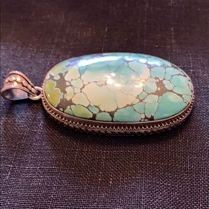 Jewelry - Large Turquoise/black(speck gold) necklace piece